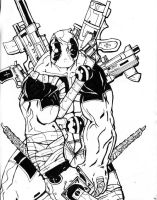 deadpool fully loaded by boricuanart