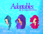 Winx: Adoptables SET by DragonShinyFlame