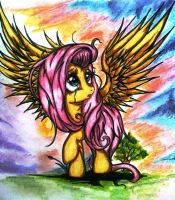 Sad Fluttershy by Tomek2289