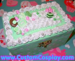 Mint polka dot sweets box by The-Cute-Storm