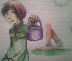Mila and bucket by skatergirl747
