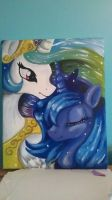 Princess Celestia and Luna Painting by Kattermerang