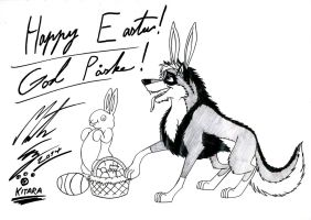 Kitara the wolfhound - Happy Easter by MortenEng21