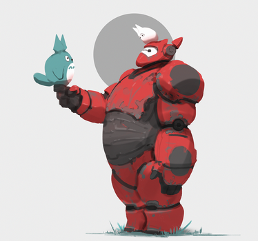248/365 Baymax and totoro by snatti89