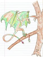 Forest Dragon by DemonicFruitLoop