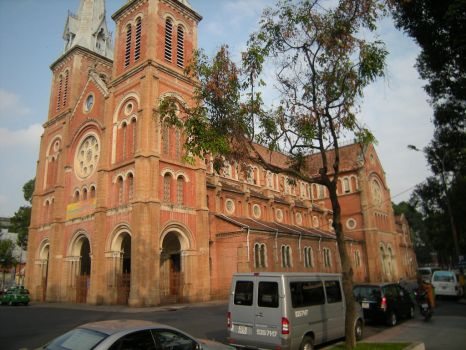 The Grand Notre Dame of Viet Nam, in Saigon. by tommyk1347