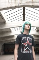 Turquoise hair 8 by Hampyi