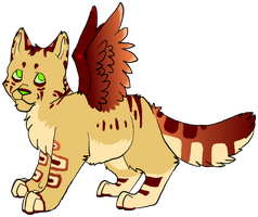 Winged cat adopt -1- [open] by RooksRookery