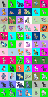 My little Pony Mon Sprite Sheet by DMN666