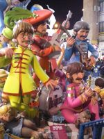 Fallas 2010 - II - The Beatles by Daruku-maru