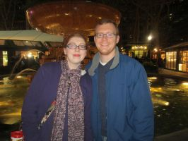 My brother and I at Bryant Park by purplekatz93