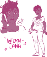 Intern Dana (Sketches) by ameliestuck