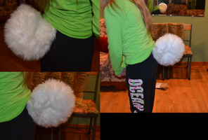 FOR SALE white curly canine tail by zipzap-rai