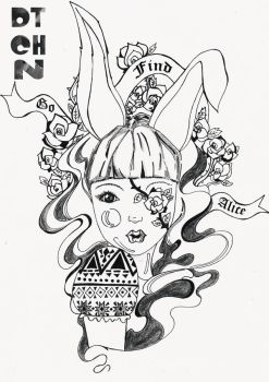 Alice in Wonderland Series BW 3 by dtchn