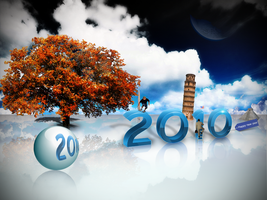 happy new year 2010 by amine5a5