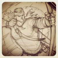 Archer sketch by redisoj