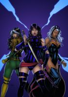 psylocke storm rogue by leomatos2014 - Colors by OriginStory
