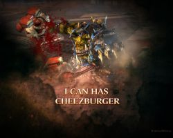 Orc can has cheezburger by Listoric