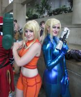Samus meets Samus by BleachcakeCosplay