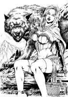 Red Riding Hood Inked by DontBornInInk