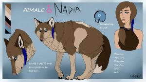 Nadia Reference Sheet by KahlaWolf