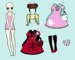 Paper Doll Lolita Color by visu-doll