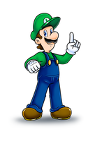 Luigi by Nintendrawer