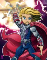 Lil Avengers - Thor 3D by lordmesa