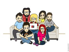 The SourceFed Family by AE-Runic