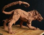Hell Hound Sculpture by Anesthetic-X