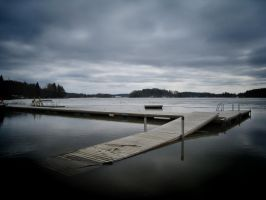 Lonely dock by Ruskaphoto