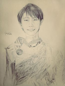 Day 2: Yuzuru Hanyu (Hope and Legacy FS) by Llaimrid