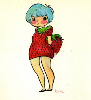 Sweet Strawberry Girl by b-law