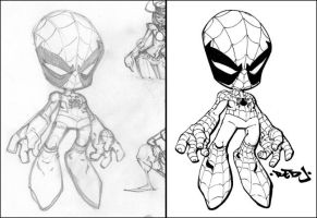 Little Spidey :: 4 Colourists by Red-J