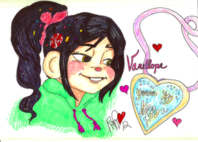 Vanellope Von Schweetz: Speed Drawing by RomaniaBlack