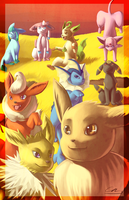 Field of Eevees by Vulcan-flare86
