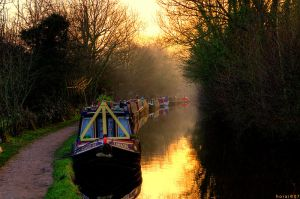 Canal Sunset by horai