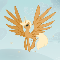 Two wings, a horn, an alicorn by Assiel