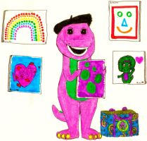 Barney Made A Lot Of Pictures by BestBarneyFan