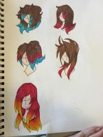 May get my hair restyled and dyed. Opinions plz! by FireclawandIceclaw