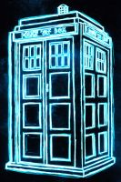 tardis neon by AlanSchell