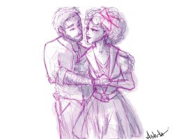 Haymitch and Effie Quick Sketch by MissProcrastination