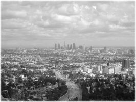 Los Angeles from a mountain by navymaximanut