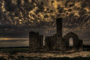 Sundown Fort Griffin in West Texas. by nolra