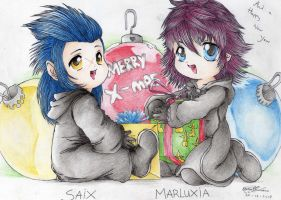 Saix and Marluxia X-mas 2007 by X-Seion-X