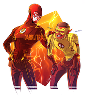 TheFlash: After Race by DarkLitria