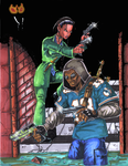 Daimon and Bobbi color by TonyTempest