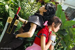 FF CC: Aerith and Zack by z3LLLL