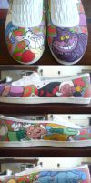 My Alice in Wonderland Shoes by JoiToi