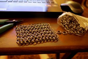 Chain maille for my scale project by Wolfie-83